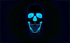 neon skull background