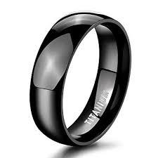 <b>TIGRADE</b> 2mm/4mm/6mm/<b>8mm</b> Black Titanium <b>Ring</b> Plain Dome ...