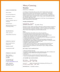 general cv template 6 dental cv template business opportunity program