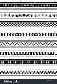 Border Patterns Classy Illustration Geometric Border Patterns Black White Stock