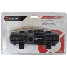 simmons red dot scope. simmons 1x24mm red dot sight with rings - matte black scope f