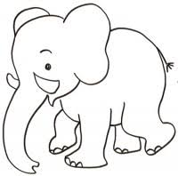 Disegno Di Cucciolo Di Elefante Da Stampare Gratis E Colorare