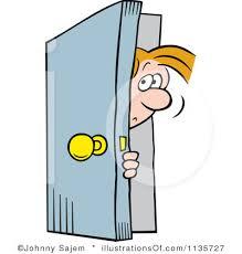 open door clipart black and white. Open Door Clipart Boy Black And White
