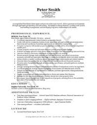real estate agent resume example realtor resume example