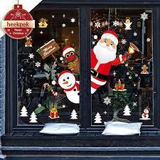 Heekpek Weihnachtsdeko Merry Christmas Schaufensterdekoration Weihnachtssticker Wandaufkleber Fenster Aufkleber Engel Bälle Weihnachten Xmas Vinyl