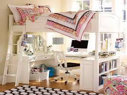 simple loft bed with desk underneath how to create fun and peace with