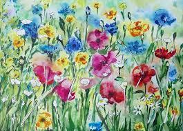 wild flowers painting by liudmyla tymoshenko