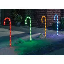 Light Up Garden Candy Canes Candy Cane Light Set