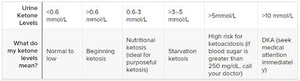 Ketone Levels Chart Mg Dl The Ketogenic Diet And Diabetes The Definitive Guide