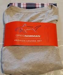 New Greg Norman Mens Premium V Neck And Pants Lounge Set