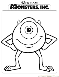 monsters inc coloring page 04 coloring page
