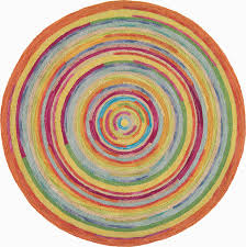 concentric multi round rug modern kids boston by