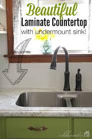 undermount sink with laminate countertop. Beautiful Laminate Countertop With Undermount Sink | MyBlessedLife.net M