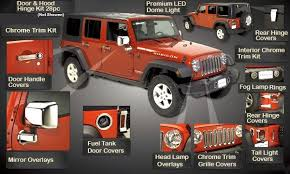as you can see on picture you able to change so many parts but let take a look on a few more important of jeep wrangler unlimited accessories