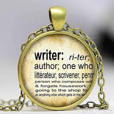 whole writer pendant vintage