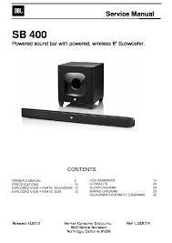 jbl sb 400 service manual view online or download repair manual Amplifier Wiring Diagram at Diagram Wiring Jbl Powered Sound System