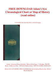 Free Download Adams Syn Chronological Chart Or Map Of