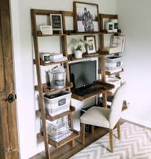 Image of: Leaning Bookshelf Desk