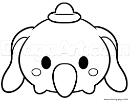 Tsum Tsum Dumbo Disney Coloring Pages Printable
