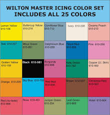 Wilton Gel Icing Color Chart Wilton Icing Colors Chart In 2019 Icing Color Chart