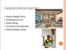 CAREER OPPORTUNITIES Interior design .