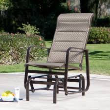 outdoor gliders for sale. Coral Coast Del Rey Padded Sling Outdoor Glider Chair - Bronze Gliders For Sale I