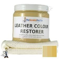 cream leather dye colour repair