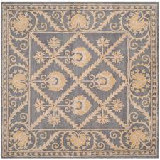 bella blue gold 5 ft x 5 ft square area rug
