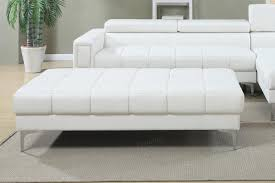 chester white leather ottoman  stealasofa furniture outlet los