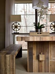 wooden picnic kitchen table ideas