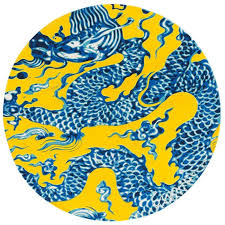blue round area rugs gandia blasco blue china chinese dragon drawing rug round colors