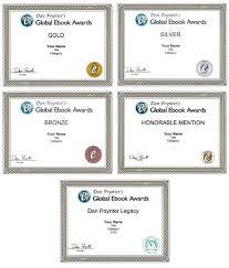 Honorable Mention Certificate Award Certificates Dan Poynters Global Ebook Awards