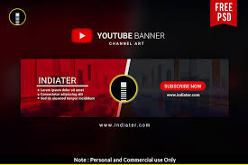 Youtube Template Psd Free Youtube Channel Banner Psd Template Psd Templates