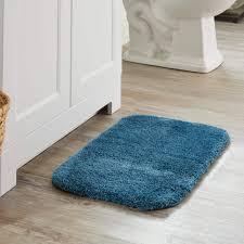 rug turquoise bathroom rugs luxury mohawk home spa bath rug 1 5x2 cameo blue wash