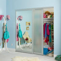image mirror sliding closet doors inspired. girls mirrored wardrobe sliding door mirror closet create wonderful light effects image doors inspired