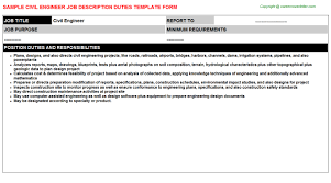 Civil Engineer: Free Career Templates Downloads | Job Titles ...