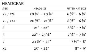 Well Head Size Chart Size Chart