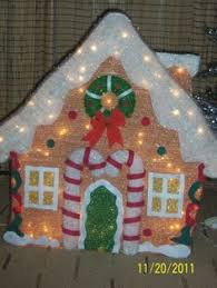 Outdoor 3 FT GINGERBREAD HOUSE BOY GIRL 3 PIECE SET Lighted Christmas Yard  Decor