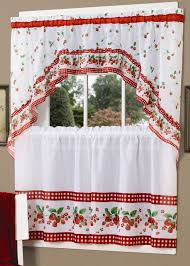 Red Plaid Kitchen Curtains Red And White Kitchen Curtains Free Image