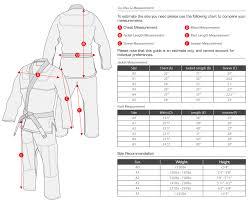 Flow Kimonos Size Chart Venum Gi Size Chart Www Bedowntowndaytona Com