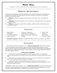 Medical Receptionist Resume Cover Letter resume Medical Receptionist Resume Examples 19