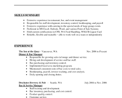 Resume Template Bar Work Images Certificate Design And Template