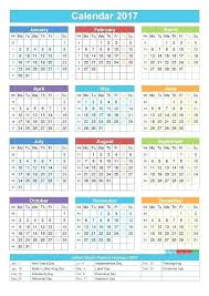 1 Page Calendar Template