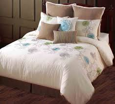 modern style design bedroom with 9 piece spring flower comforter set 1 queen bed skirt 1 queen bed skirt and polyester fill material comforter
