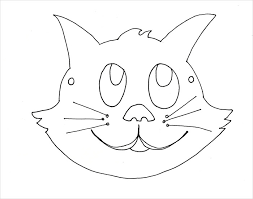 Small Picture Cat Mask Coloring Pages Coloring Pages