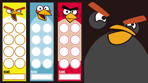 Angry Birds Behavior Chart Paperzip Teaching Resources Angry Birds Bookmarks