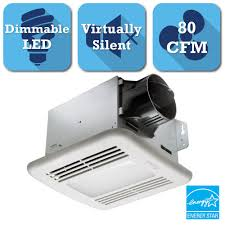 delta breez greenbuilder series 80 cfm ceiling exhaust bath fan with led light