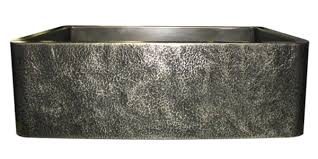hammered stainless steel farmhouse sink. Nickel Silver Hammered Apron Single Basin Sink In Stainless Steel Farmhouse