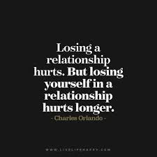 Hurting Quotes On Relationship Adorable Quote Losing A Relationship Hurts But Losing Yourself In A
