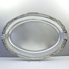silver serving platter an incredibly heavy pair of period art dutch sterling silver serving trays or silver serving platter